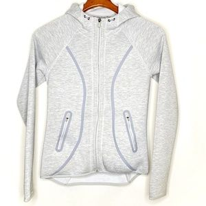 Athleta heather gray full zip hoodie/
